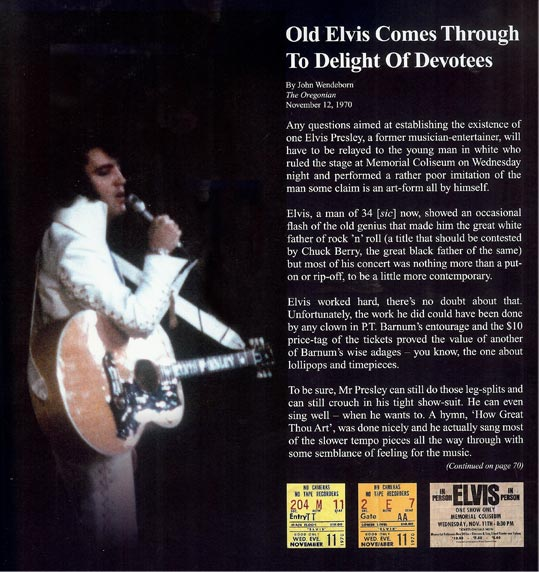 Elvis-review-12-Nov-1970-Portland-Konzert