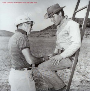 Alone at last: Don Siegel talking to Elvis Presley on the set of 'Flaming Star' (1960)