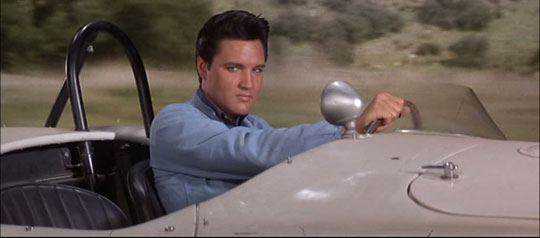 With his foot on the gas an no no brakes on the fun: Elvis Presley in Spinout (1966)