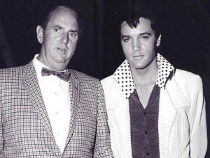The beatuy and the beast: Elvis Presley with Colonel Tom Parker 1966