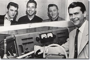 Elvis, Bill, Scotty und Sam im SUN-Studio 1955